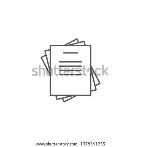 Document papers pile line icon, outline vector sign, linear style pictogram isolated on white Stock photo ©