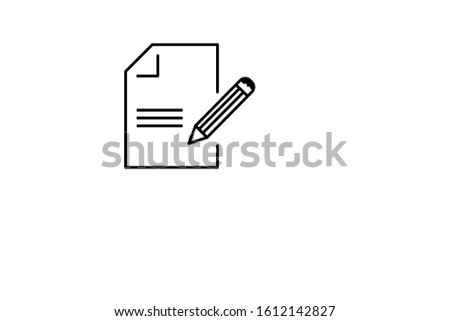 document pen document and text document