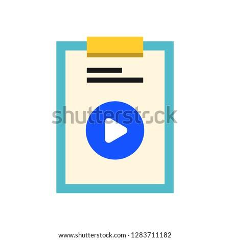 Document Play icon