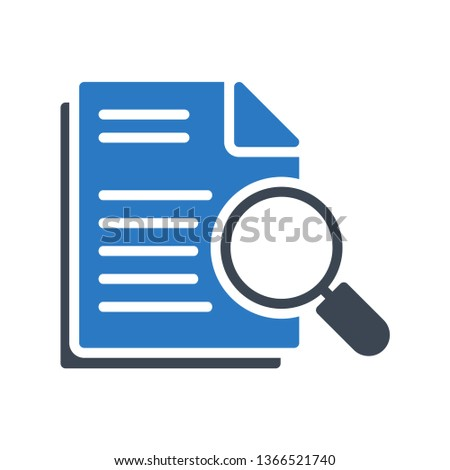 document search glyph double color
