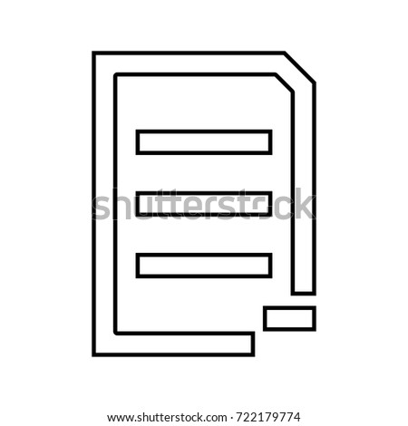 Document sheet substract black icon .