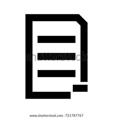 Document sheet substract icon .
