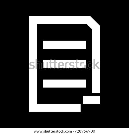 Document sheet substract white icon .