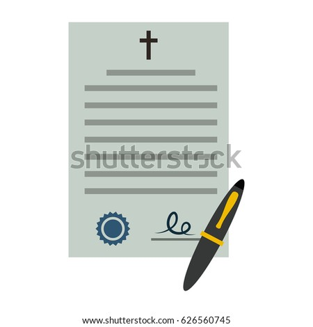 document testament flat icon