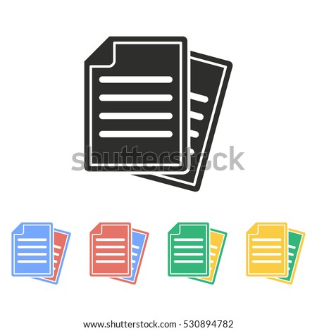 Document vector icon. Illustration isolated on white background for graphic and web design.