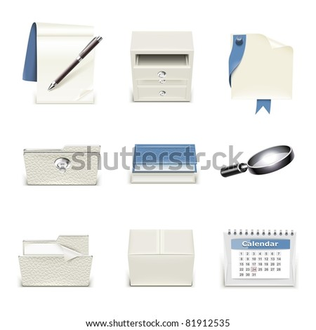 document vector icon set