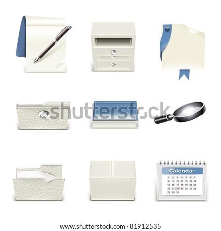 document vector icon set