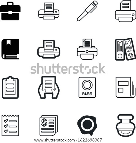 document vector icon set such