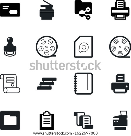 document vector icon set such as: folders, directory, notepad, tray, envelope, shared, share, mail, mark, stamper, organizer, pin, board, workplace, stamp, a, internet, list, magnifier, open, job
