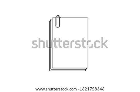 Document vector in white background. This document vector has several paper documents. This document consists of a document, documents clipper and documents icon.
