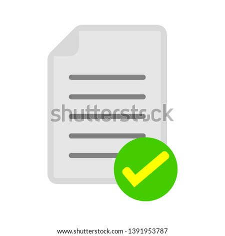 document with Check mark sign icon