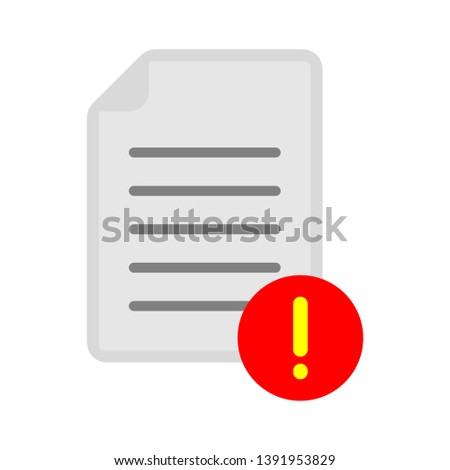document with exclamation mark - attention icon