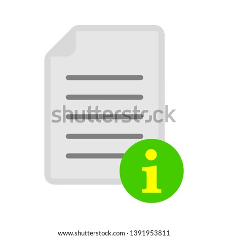 document with info sign - document information