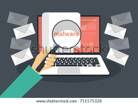 document with malware in laptop