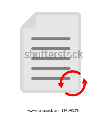 document with refresh sign - reload icon
