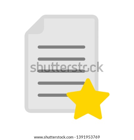 document with star symbol - favorite icon