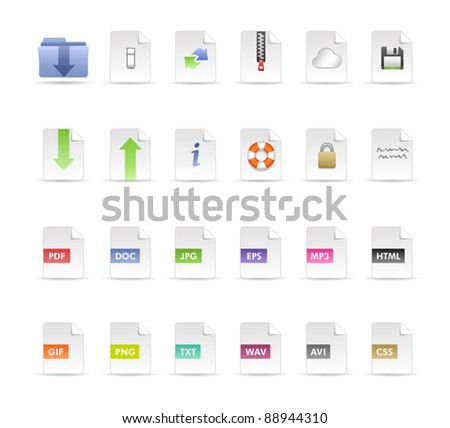 Documents and Folder Icon Set