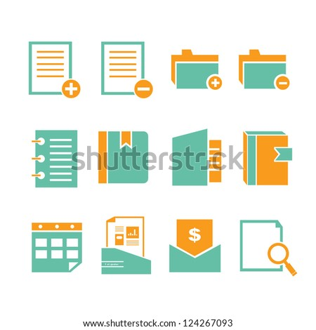 documents and stationery set, icon
