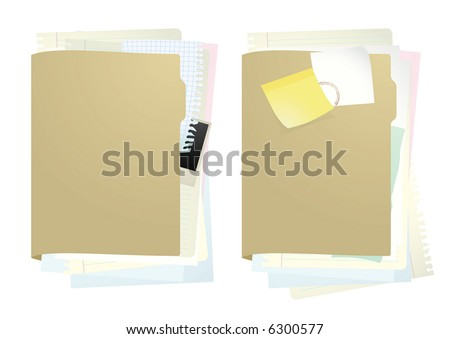 Documents folder #1. Vector illustration.