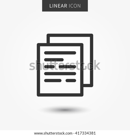 Documents icon vector illustration. Isolated documents symbol. Files outline element. Paper page graphic design pictogram. Office documents outline concept.