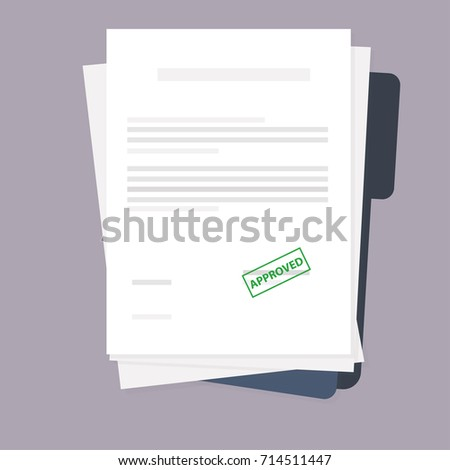 documents on the folder