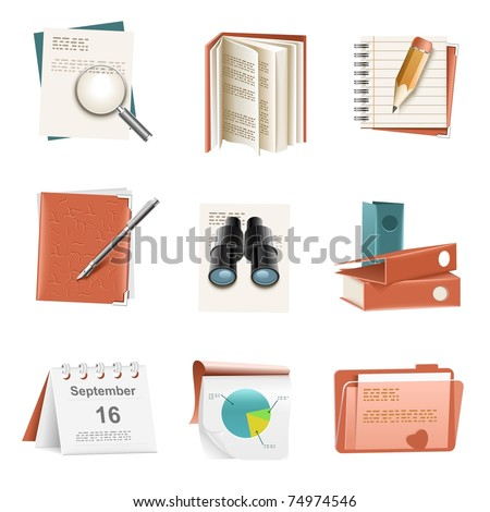 documents vector icon set