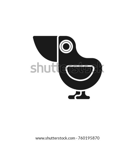 dodo bird icon flat black