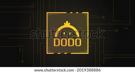 dodo cryptocurrency logo on