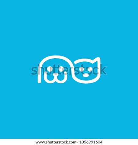 dog and cat logo pet vector illustration