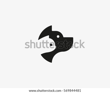 dog and cat negative space logo