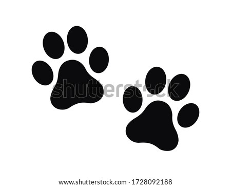dog and cat paw print vector