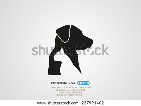 dog and cat veterinary vector
