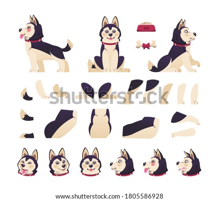 dog animation cute cartoon pet