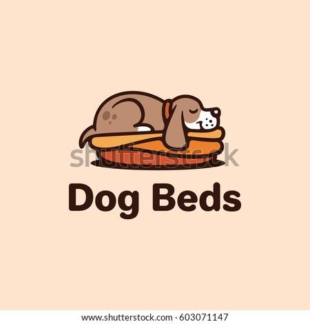 dog beds logo template