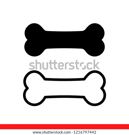 dog bone icon in modern flat