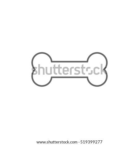 dog bone outline vector isolated