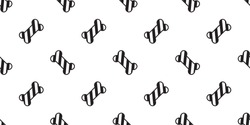 Dog bone seamless pattern vector Christmas Santa Claus Xmas candy cane dog paw french bulldog scarf isolated repeat wallpaper illustration cartoon tile background