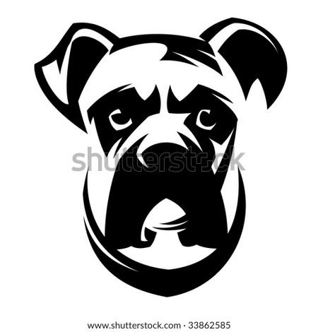 Dog Boxer - stock vector