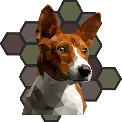 Dog breed Jack Russell Terrier polygonal vector image