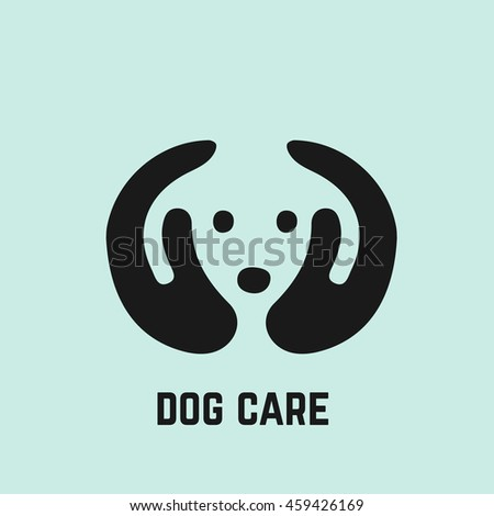 Dog care icon illustration. Adopt a dog.