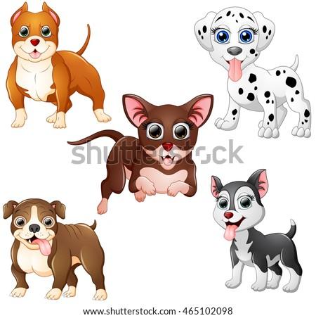 Dog cartoon set collection