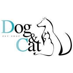Dog & Cat logo for pet shop, vet.