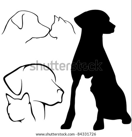 Dog & Cat Silhouettes