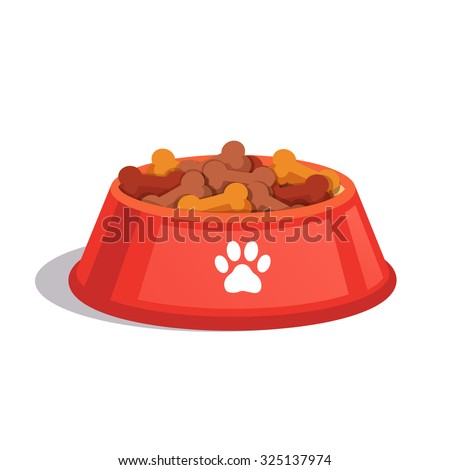 dog dry food bowl bone shaped