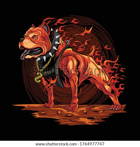 dog fire pitbull from hell