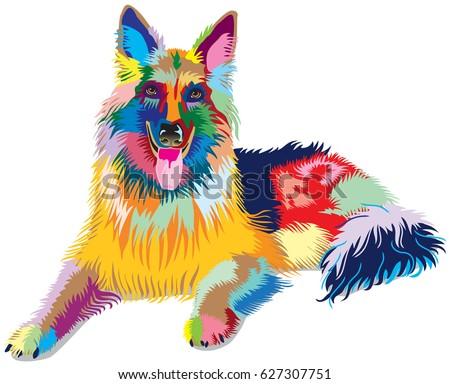 dog  german shepherd  dog of