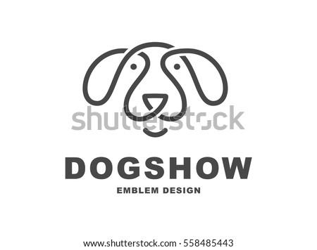 dog head logo   vector