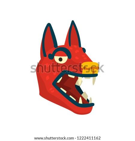 dog head  maya civilization