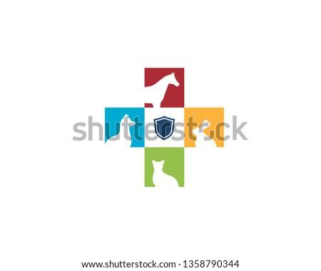 dog horse cat rabbit silhouette