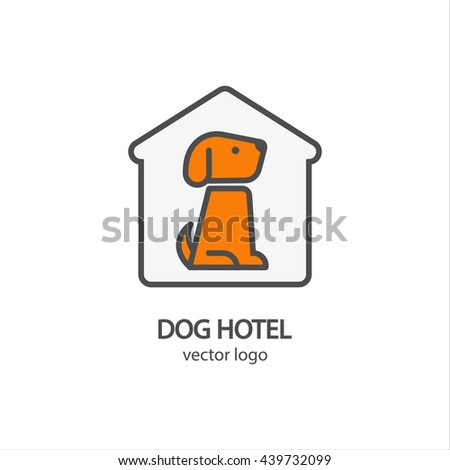 dog hotel logo vector  template